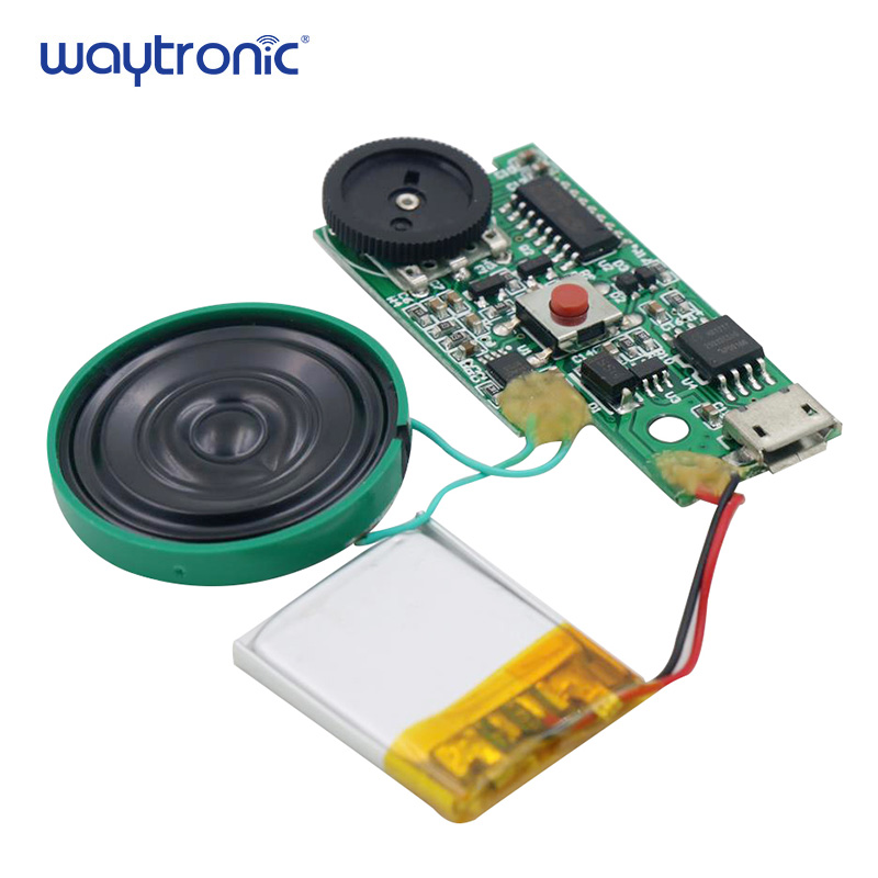 Consumer Electronics Reliable Usb Download Push Button Audio Playback Mp3 Sound Module Voice Circuit With Speaker And Lithium Battery For Toys Greeting Cards Low Price Accessories & Parts