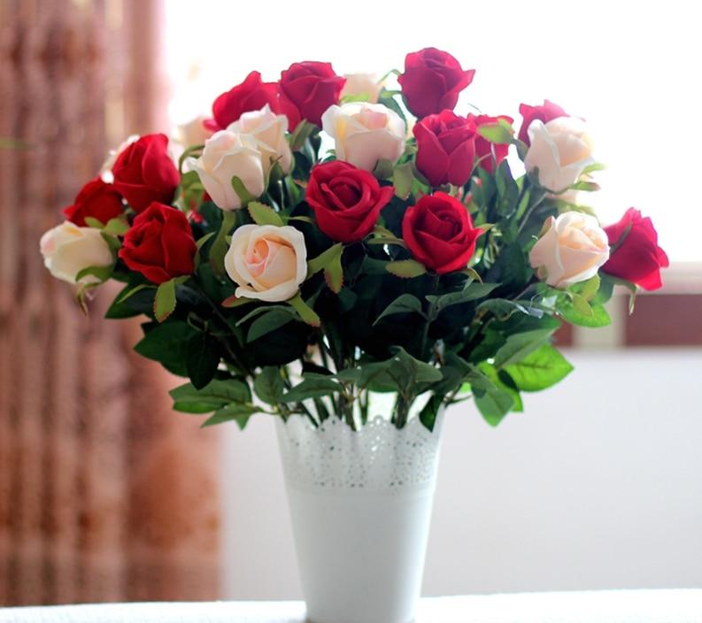 hedvábí růže květ svatební dekorační a domácí kuchyně pokoj levné levné dopravy zdarma