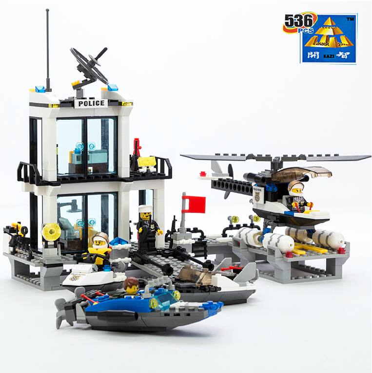 ᐊKazi Model building kits compatibles con LEGO Ciudad policía 991 ...