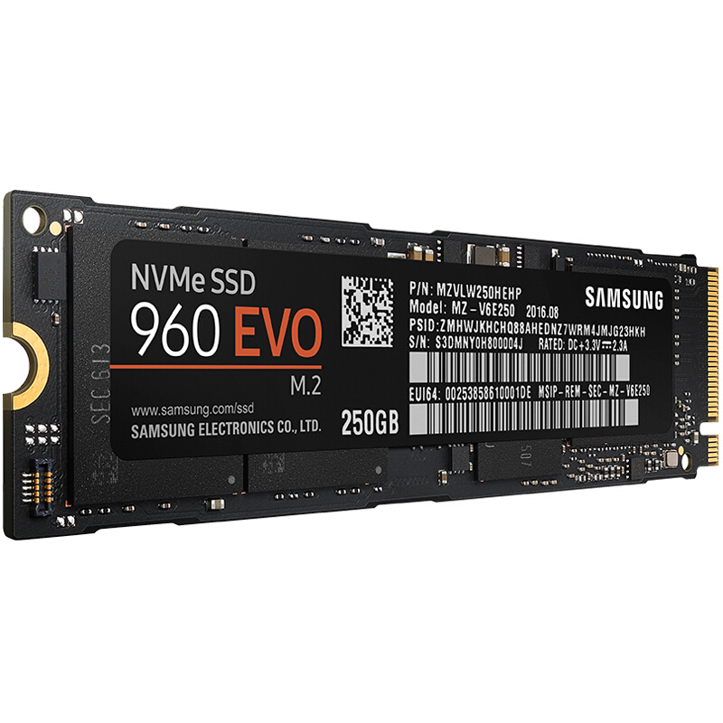 SAMSUNG 960 EVO 250GB M.2 NVMe Internal Solid State Drives SSD (3200MB/s Read; 1500MB/s Write)_MZ-V6E250BW samsung 960 evo series 250gb ssd накопитель mz v6e250bw