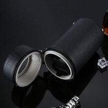 2017 NOUVEAU Enrouleurs Montres Noir Automatique Cylindre Unique Montre Enrouleur muet Boîte Montre Cas De Stockage D'affichage Boîte Cadeau Caixa de L'UE Plug