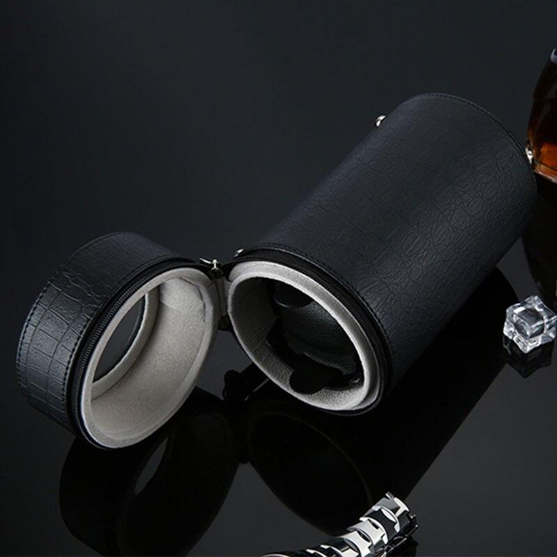 2019 NUOVI Orologi Avvolgitori Nero Automatico del Cilindro Singolo Watch Winder Mute Guarda Caso Scatola di Immagazzinaggio Casella di Visualizzazione di Regalo Caixa UE spina