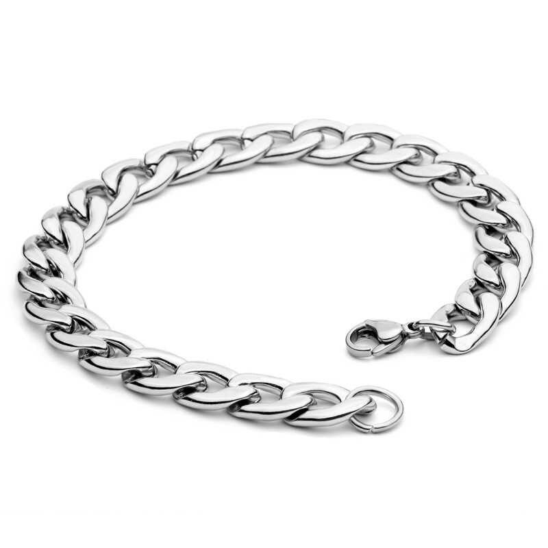 Mcllroy w nowym stylu bransoletka łańcuchowa ze stali nierdzewnej 316L ze stali tytanu mężczyzna biżuteria rower łańcuch rowerowy bransoletka prezent urodzinowy