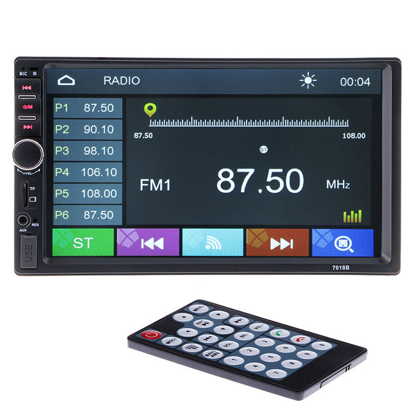 2 Din Car Multimedia Player 7'' HD Bluetooth Auto Stereo Radio FM MP3 MP4 MP5 Audio Video USB NO DVD Electronics 2din autoradio цена