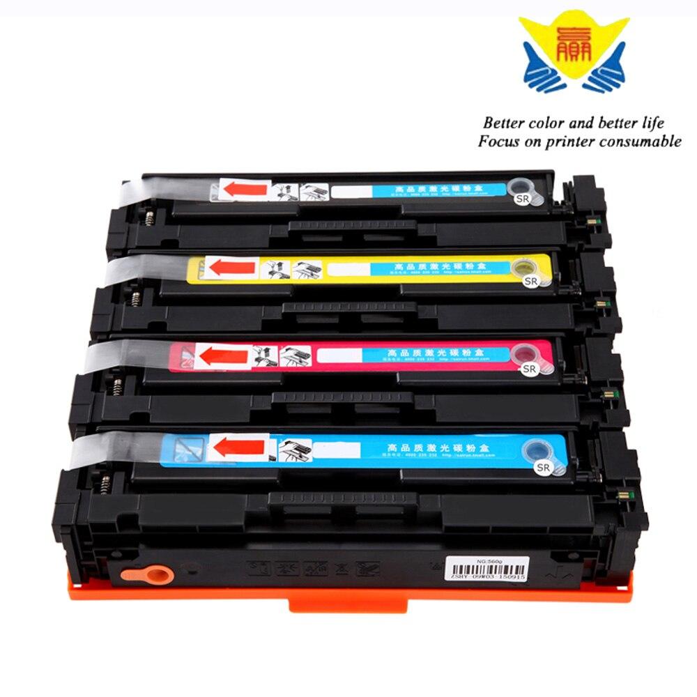 Jianyingchen Suitable Toner Cartridge Cf400A Cf401A Cf402A Cf403A For Hp Colour Laserjet M252N M272N (4Pcs/lot)