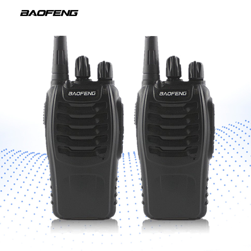 2-PCS BAOFENG BF-888S Walkie Talkie UHF FM Transceiver Handhållen Interphone 400-470MHz Tvåvägs bärbar CB Radio Long Distance