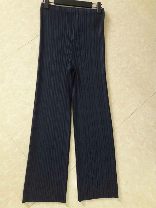 Todo azul Gratuito Legged Envío Nuevo Miyake Básicos Negro Veces gris fósforo coffee Plisado Pantalones Recto Modelos RqwqpFPd