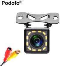 Podofo 12 LED Light Night Vision Car Rear View Camera Universal Backup Parking Camera Waterproof 170 Wide Angle HD Color Image