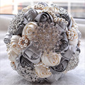 Customized made 2017 Bridal Wedding Bouquet de mariage Pearls Bridesmaid Artificial Wedding Bouquets Crystal buque de noiva