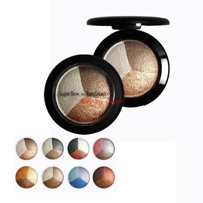 Baked Eye Shadow 3 Professional Colors Matte Eyeshadow Makeup In A Palette Sugar Box For Studio