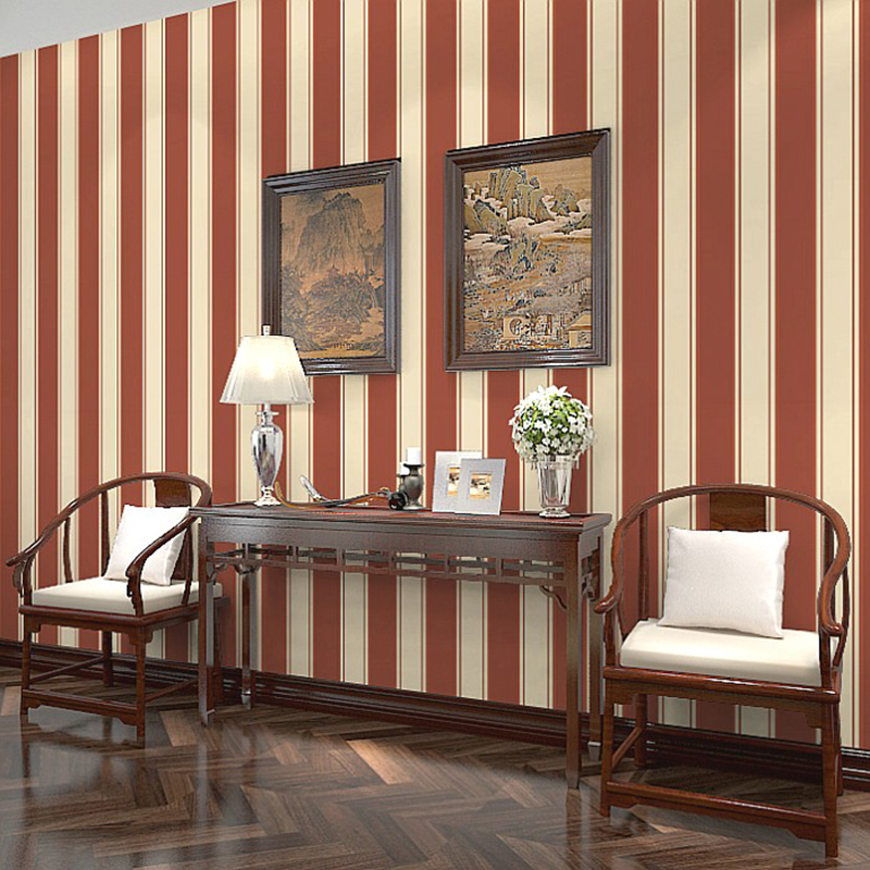 Modern classic 3d striped wallpaper hotel living room tv for Hotel wall decor