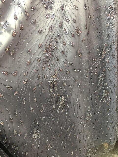 Silver colour Nigerian Mesh lace fabrics ZP4 a76c93f86d4c