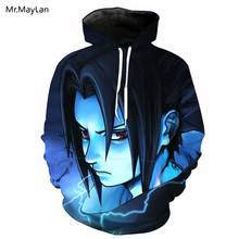 Harajuku Japan Anime Naruto Uchiha Itachi 3D Print Jacket Men/Women Hiphop Hoodies Loose Tracksuit Hooded Sweatshirt Boys Coat