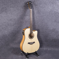 Guitar Acoustic Electric Steel String Balladry Folk Pop Thin Body Flattop 41 Inch Guitarra 6 String