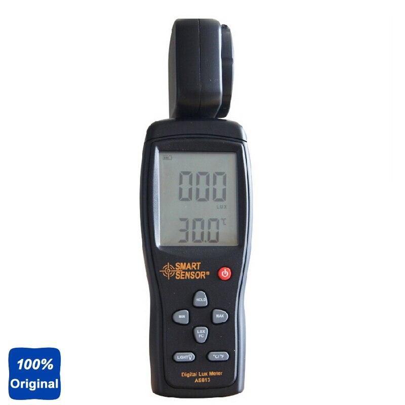 100% Original AS813 Lux Meter Digital Light Meter Lumen Meter Photometer 1~100.000lux ta8123 light meter digital photometer luminance meter intensity measurement test instrument 0 1 100000lux