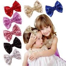 Купить с кэшбэком Children Hair Clip Hair Accessories Headwear Baby Bow Kids Baby Girls Hairpins Full Cover Clips