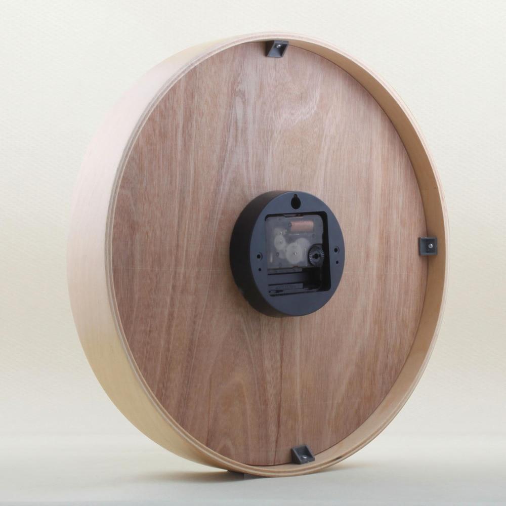 IKEA Mute Original Wooden System Wall Clock Minimalist Small Fresh Wood