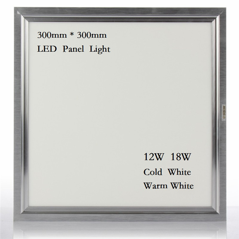 LED panel <font><b>light</b></font> Downlight square lampada 300x300 12W 18W high bright led indoor ceiling lamp SMD 4014 Cold warm white led driver