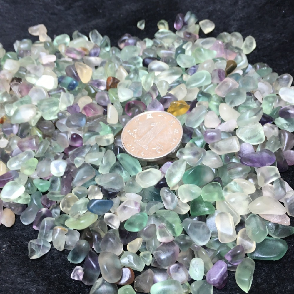 50g Natural Fluorite Quartz Crystal Stone Rock Rough Polished Gravel Specimen natural stones and minerals happy fish tank stone