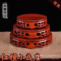 Kistler ovale mogano Teiera base di legno di sandalo rosso statue in legno pallet di legno fabbrica diretta artigianato Decorazione
