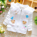Spring cotton baby girls cardigan coat Cartoon Lace flowers dot Hello sweaters jacket cardigan kids Children's clothing brand