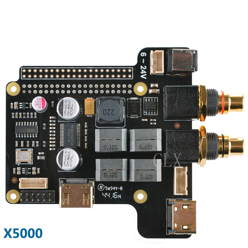 X5000 ESS Sabre Expansion Board for Raspberry Pi 3 Model B / 2B / B+ цена