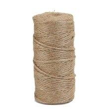 100 м/рулон ретро натуральный пеньковый Канат джутовый шпагат из мешковины шнуры для обертывания нитей DIY ручная вязка нить макраме шнур веревка