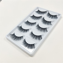 5 pairs Real Mink Fake eyelashes 3D Natural False Eyelashes Lashes Soft Eyelash Extension Makeup Kit free shipping