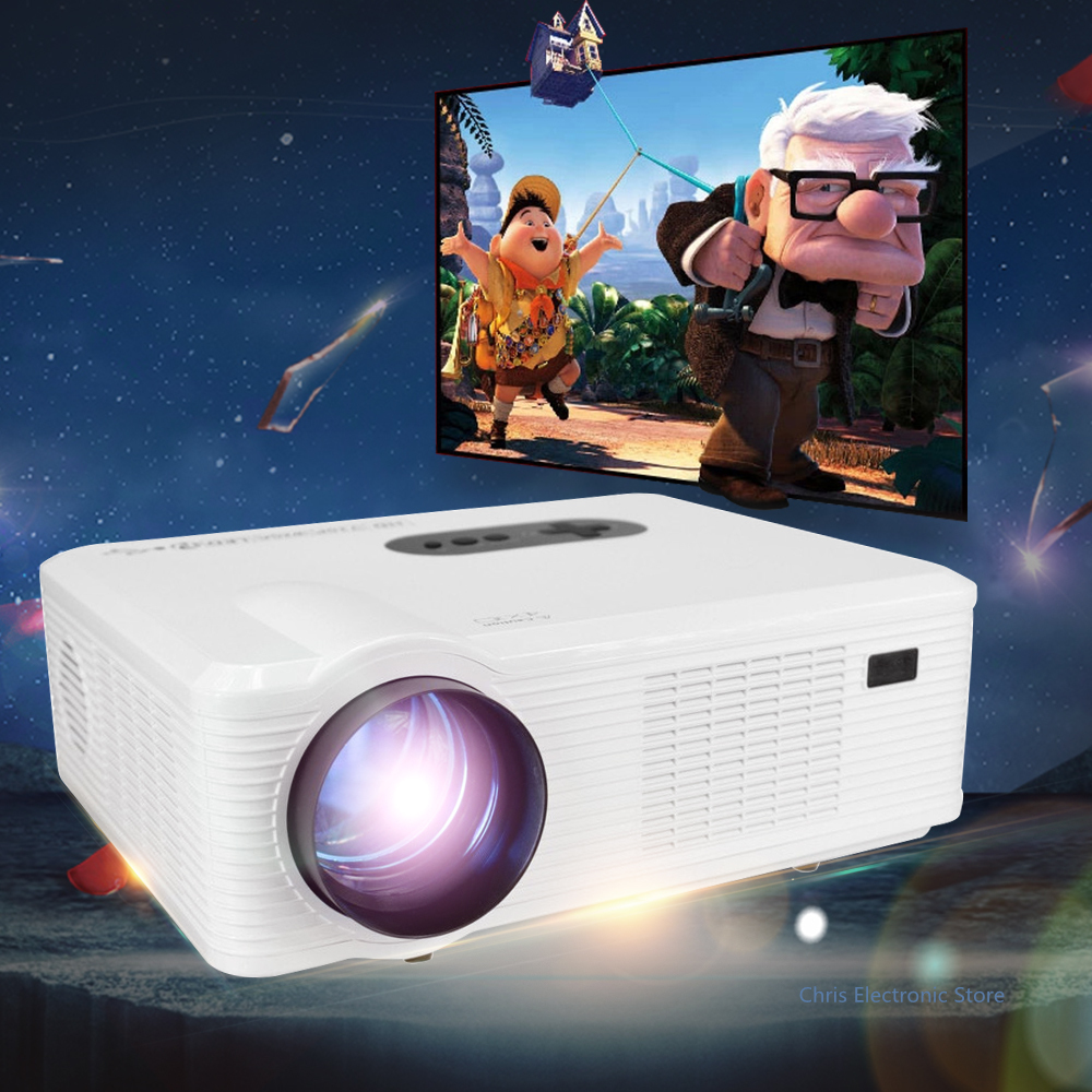 Mesuvida CL720 Multi function 3000LM 1280x800 Pixels HD LED Projector EU Plug Analog TV Interface for