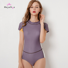 dd3e0b2e8a873 Heyelice Sexy Surfing Swim Suits For Women Solid Neck One Piece Swimming  Wear Back