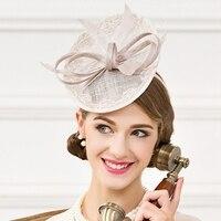 Lady New Linen Small Hat Female Fashion British Party Cap Women New Fedoras Cap Wedding Headwear