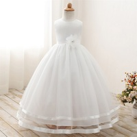 White Baptism Wedding Kids Dresses For Girls Clothes Children Clothing Ball Pageant Formal Wear Party Girl