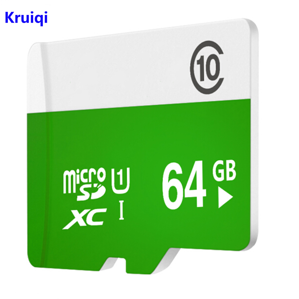 Kruiqi 64GB 64G Micro SD HC Class 10 TF Flash SDHC Memory Card for Security Camera/Smart Phones Tablet
