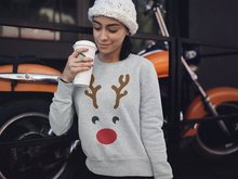 2019  mama hot winter hooded Christmas dear printed pullover sweatshirt fashion slim sleeve pullovers female