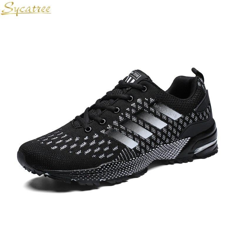 <+>  Sycatree Повседневная обувь Мужчины Yoga Спортивные кроссовки Мужская на воздушной подушке Mesh Spor ✔