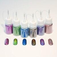 5ml Holographic Laser Nail Glitter Powder 6 Colors 1 Bottle Manicure Nail Art Holo Glitter Powder