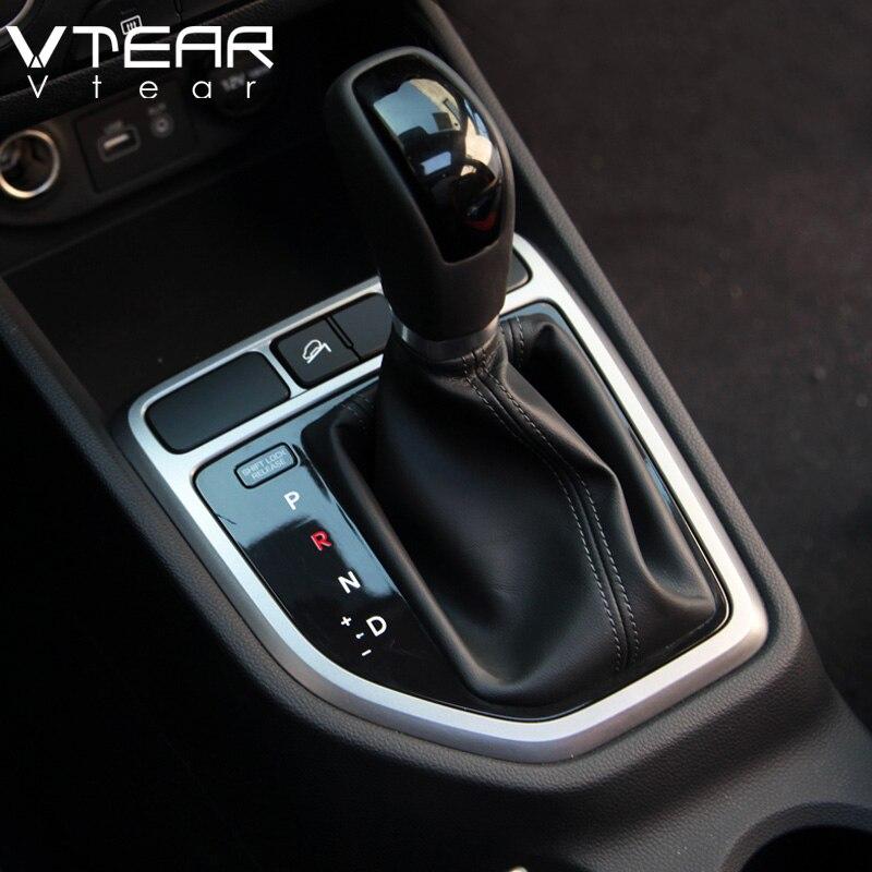 Vtear For font b Hyundai b font Creta ix25 Gear head circle decorative center control cover