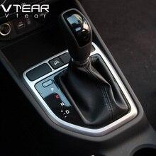 Vtear For Hyundai Creta/ix25 Gear head circle decorative center control cover Refit ABS styling decoration accessory 2015-2018