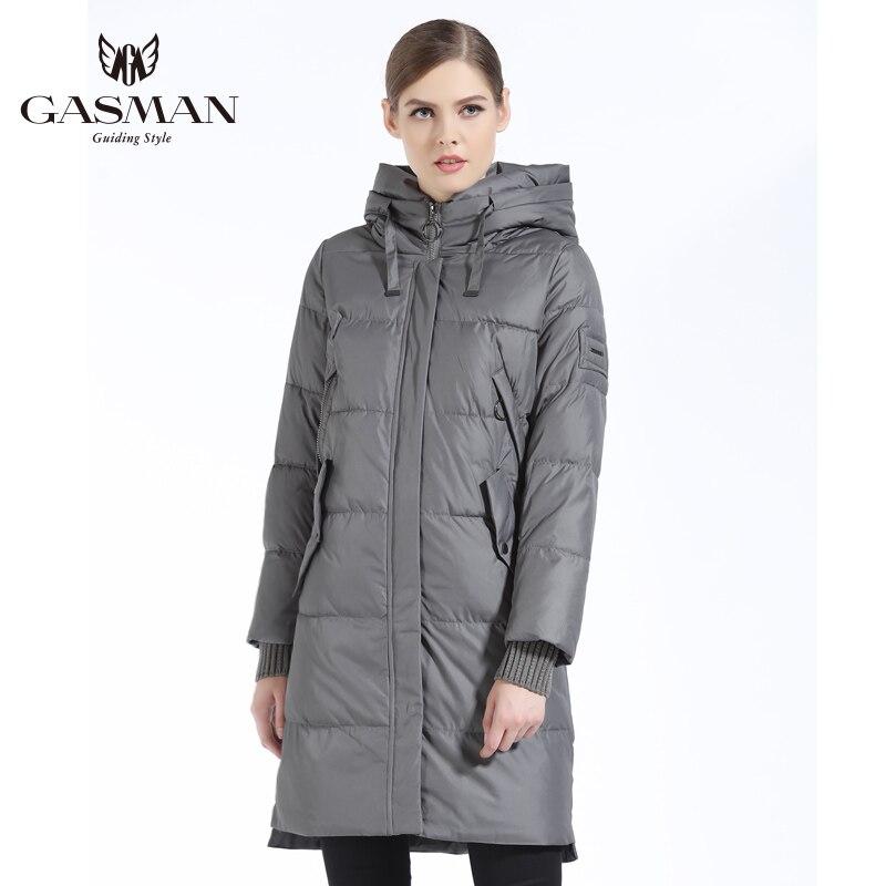 GASMAN 2019 Winter Women Bio Down Parka Brand Female Long Winter Coat For Women Hooded Down