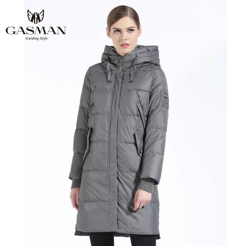 GASMAN 2019 hiver femmes Bio bas Parka marque femme longue hiver manteau pour femmes à capuche vers le bas de la mode veste nouvelle Collection d'hiver