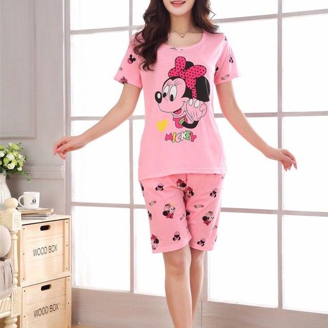 summer fashion Cartoon sexy pajamas sets printed women Cute pajama short  sleeve Loungewear sleepwear nightwear 8e02645bd