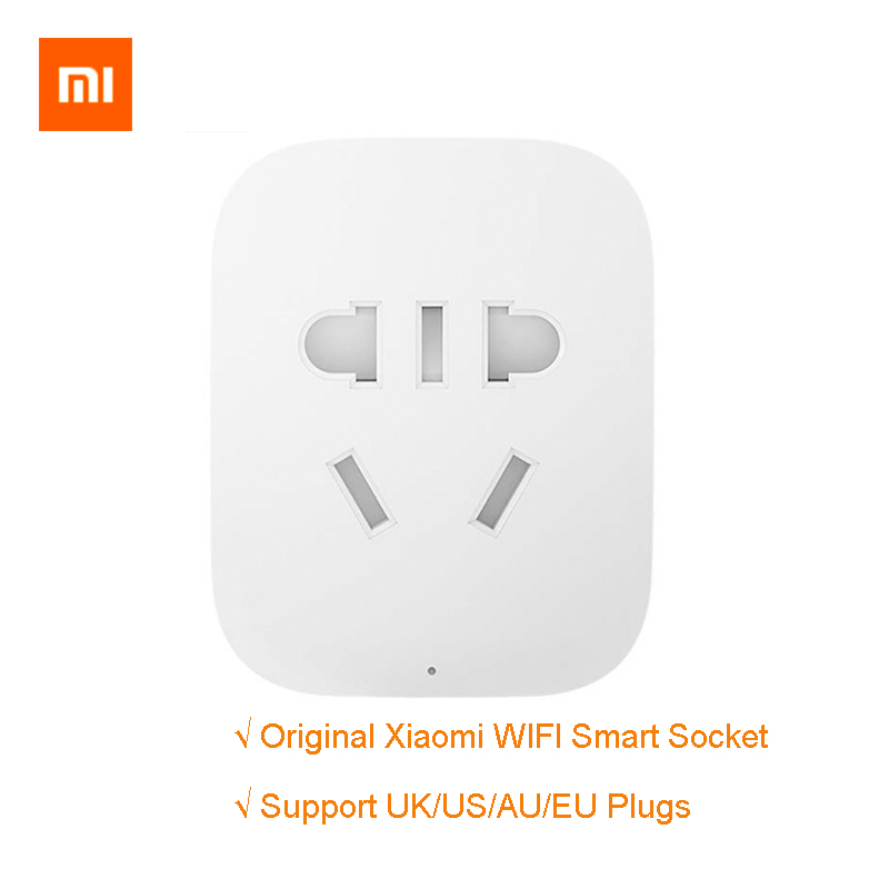 100% Original Xiaomi Smart Socket Plug Basic WiFi Wireless Remote Socket Smart Travel Adapter Power on and off UK/US/AU/EU Plugs