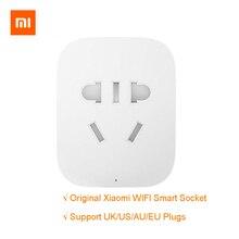 100% Оригинальный Xiaomi умная розетка, защищает от пыли и грязи, и украшает Wi-Fi Беспроводной удаленный сокет смарт-адаптер для путешествий Мощность включения и выключения UK/US/AU/европейские вилки