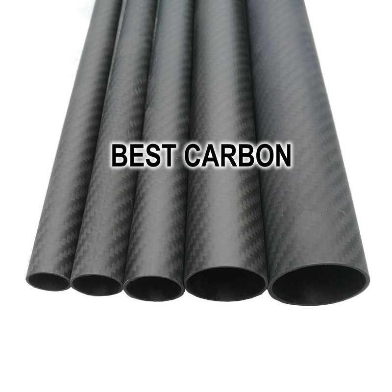 Free shiping OD30mm to OD 50mm with 500mm length High Quality Twill Matte surface 3K Carbon Fiber Fabric Wound Tube free shipping 8pcs pack 25x23x600mm carbon tube 3k twill weave matte finished carbon fiber pipe