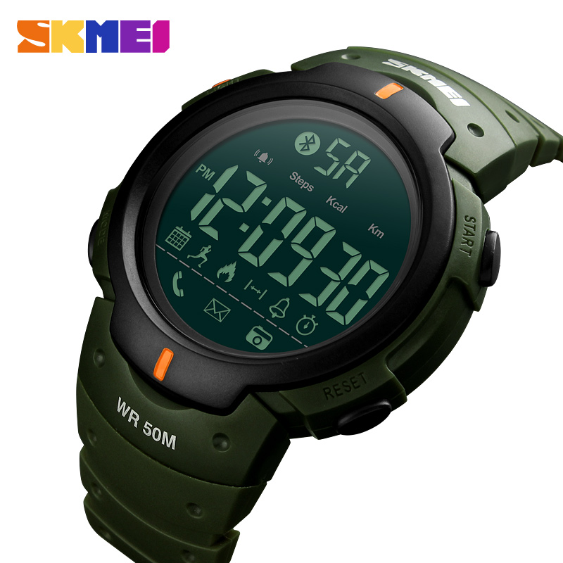 SKMEI Fashion Smart Sports Watch Men Calorie Pedometer Bluetooth Smart Watches Waterproof Digital Wristwatches Relogio Masculino skmei men sports waterproof watch stainless steel fashion digital wristwatches