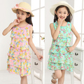 Hot 2017 Summer New fashion children Chiffon clothing girls Princess Dress kids Cake dress D001