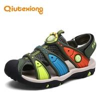 QIUTEXIONG Baby Boys Sandals Shoes Summer Beach Sandals Kids Shoe Children Sandals For Boy Toddler Closed toe Cut outs sandalia