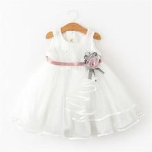 8765e38a63b34 Mignon enfant en bas âge sans manches dentelle robe filles baptême  vêtements fleur fille mariage tutu Tulle robes petite fille b.