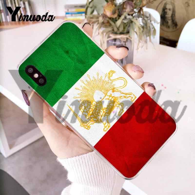 حافظة من Yinuoda لهواتف iphone 7 6 X بعلم وطني حقيبة ملحقات لهاتف iPhone X 6 6s 7 7plus 8 8Plus XS XR XS XR