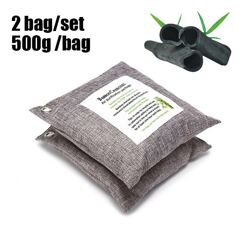 Moistureproof Natural Air Purifier Bag Activated Bamboo Charcoal Deodorizer 2pcs*50g/6pcs*75g/5pcs*100g/5pcs*200g/2pcs*500g